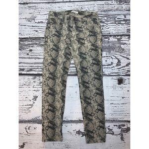 CAbi Snakeskin Jeans - Size 4